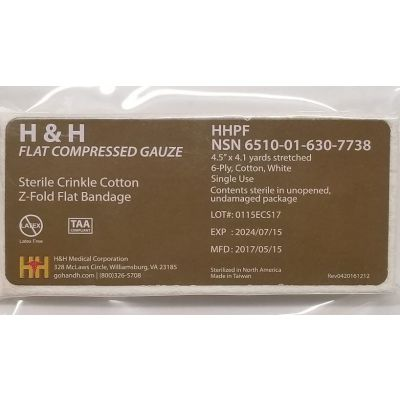 H&H sterile compressed gauze