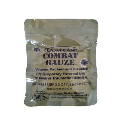 Combat Gauze QUIKCLOT hemostatic gauze