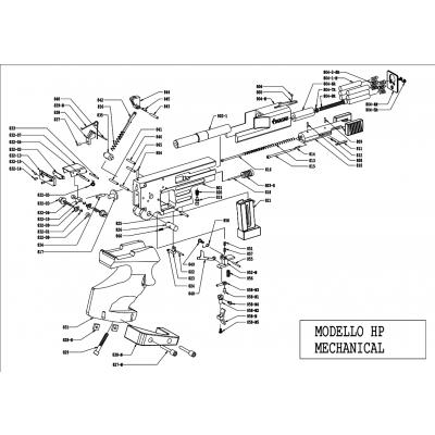 Spring firing pin HP Pardini