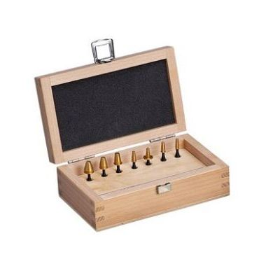 Set of bullet hole tester s ISSF wooden box