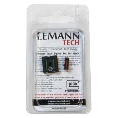 fiber rear sight kit and Glock front sight 1mm Eemann Tech