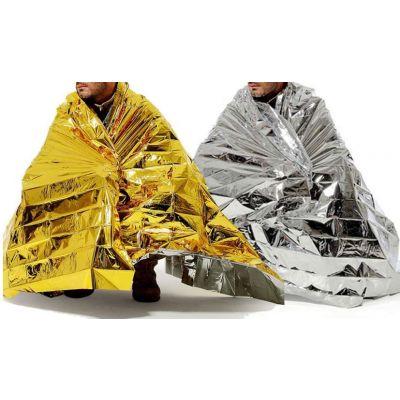 Aluminum survival blanket