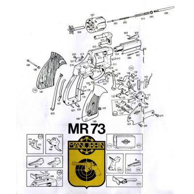 Trigger revolver Manurhin MR73