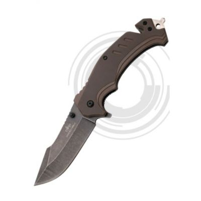 Knife assisted G10 brown 8.5cm Third