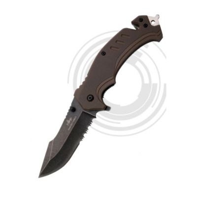Assisted Knife G10 sierra Brown 8,5cm Third