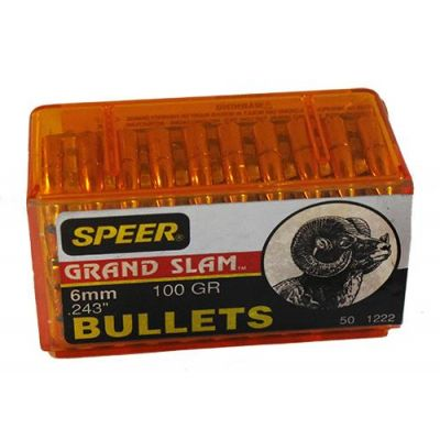 Bullet 6mm 100gr Speer Grand Slam (50u). Used