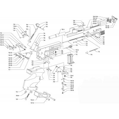 8mm tungsten counterweight Pardini SP pistol