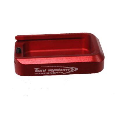 Magazine base pad Tanfoglio HC aluminum red TONI SYSTEM
