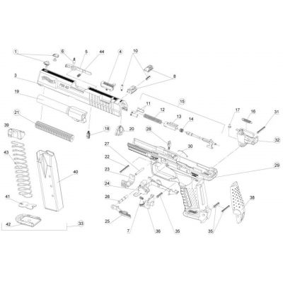 Walther P 99 rear cover ( Nr 20)